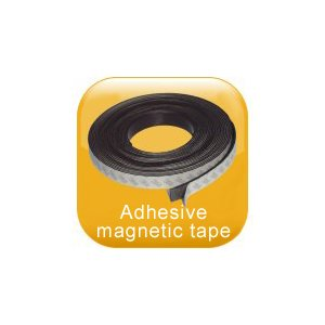 Adhesive magnetic tape