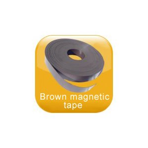 Brown magnetic tape