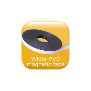 White PVC magnetic tape